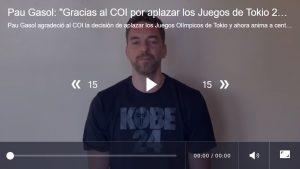 """VIDEO - Pau Gasol: """"Gracias al COI por aplazar los Juegos de Tokio 2020"""" 7"""