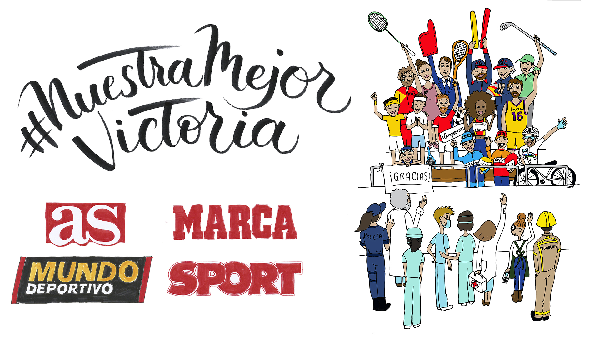 Spain's biggest sports newspapers join forces for the #NuestraMejorVictoria campaign 1